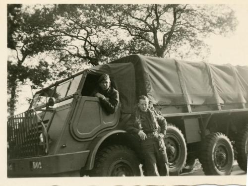 Army Henk with his driver