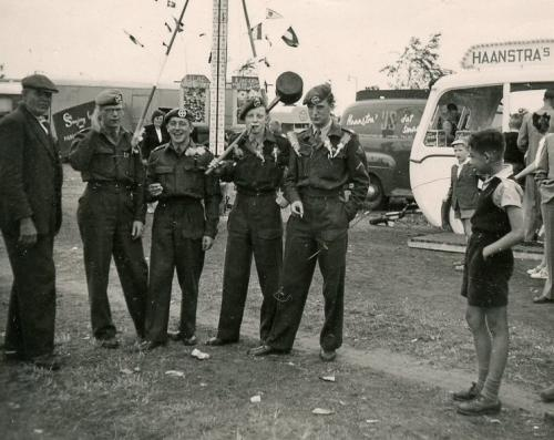 Army Henk with hammer at amusement park