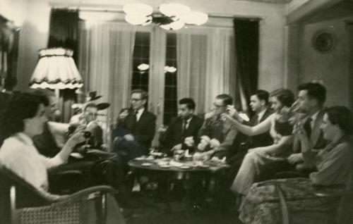 Farewell party for Henk Sept 1956